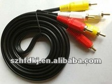 3 male RCA to 3 male RCA Audio Video cable