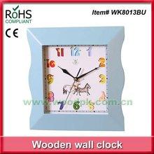28cm Woodpecker kids quartz wooden hang clock wall clocks funny design