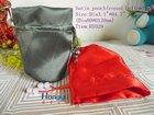 Beatiful design round bottom satin bag with plastic beads