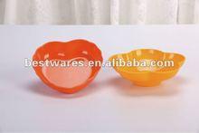 solid color heart and flower shaped salad bowl melamine