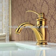 Simple design bathroom sink gold mixer gold-plated bathroom faucet