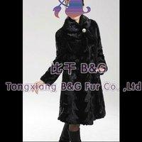 BG11904 Genuine Mink Fur Coat OEM Wholesale Retail Mink Fur Coat