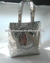 Glossy tote bag nonwoven silver lamination bag