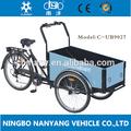 2014 caliente de la venta de tres ruedas de bicicleta de carga/bakiet modelo ub9027 cargobike