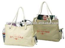 Promotional hot cheap cotton canvas beach tote bag