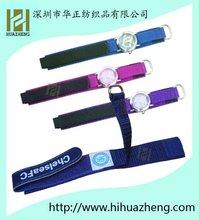 Comfortable yellow watch velcro straps