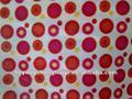 Ronda 150d patrón de impresión de tela/bebé cochecito material/caoted pu tela