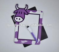 2012 Hot selling Promotional gifts magnet writing board with marker