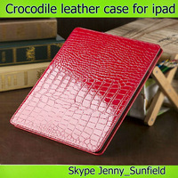 Crocodile super slim flip folio leather case for ipad 2 3 4 air mini , for ipad case leather folio ,for ipad air case pu