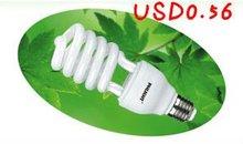 2012 hot sales half spiral energy saving lamp cfl