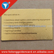 High Quality Etching Classical Gold Bar Unique Business Card
