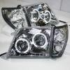 For TOYOTA Prado 3400 FJ90 LC90 Head Lamp Angel Eyes 98 to 03 Silver Type