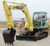 WY75 hydraulic mini excavator/used bobcat mini crawler excavator with air-condition