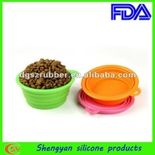 silicone pet dog bowl for sales promotion
