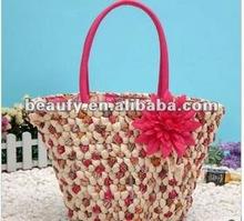 China Hot-Selling Ladies Corn Husk Straw Bag