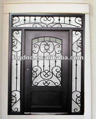 Casa de entrada puerta de hierro puertas identificaci n for Puertas principales de hierro para casas