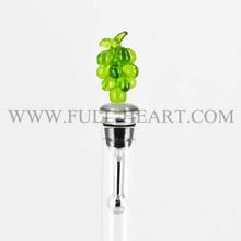 Murano real glass grape wine bottle stopper