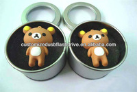 Children gifts teddy bear usb flash drive in package