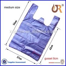 printing LDPE/HDPE high quality t-shirt bag& singlet bags