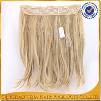 Hot new product 100% japanese kanekalon synthetic fiber clip hair extension