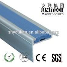 PVC aluminum stair nosing,stair edge protector step edge for carpet LD40