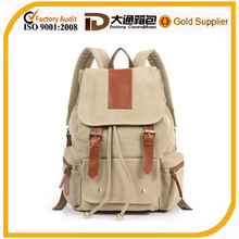 fashion canvas backpack for teenage girls