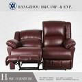 Hc-h005 king size pu sofá reclinável de couro e uma cadeira