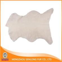 Warm Soft OEM Boots Using Woolen Sheep Hides White