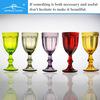 bohemia crystal wine glass; colored champagne flute