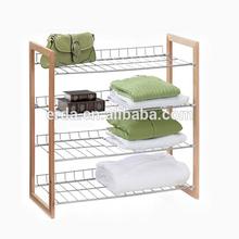 Layer Folding Towel Rack metal wire kitchen storage shelf