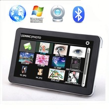 High quality 7 inch gps navigation with bluetooth windows CE 6.0 AVIN ISDB-T for optional