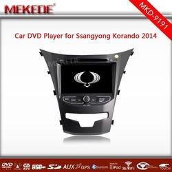 7''HD touch screen MTK3336NCG CPU Car DVD player for Ssangyong Korando 2014 with BT IPOD 1080P 3G BT