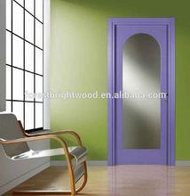 Interior Swinging Wood smart glass door