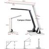 USB charging LED desk lamp, Touch-Sensitive Control Brightness,Reading led dimmable desk light