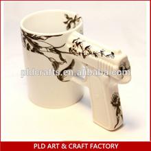 Hot Selling Factory Directly sales Ceramic Gun Mug