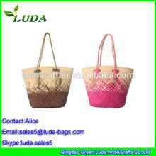 Best Selling Gender Summer Beach Bag Cool Corn Husk Straw Bag
