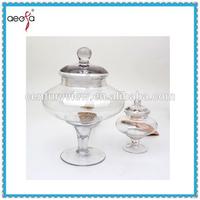 Hot Sale Clear Glass Candy Doll Jar