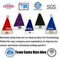 sombreros promocionales de diseño personalizado de santa de Navidad