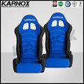 karnox mavi ve siyah jdm tarzı spor araba koltukları
