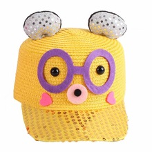 Beautiful and Popular Kids Straw Boater Hat