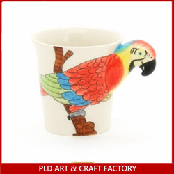 NEW kids 3d animal mug/Spring Bird Shape Ceramic Coffee Cup