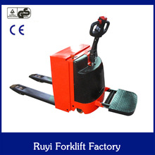 Germany quality competitive price of 1.3 ton self-propelled fully electric forklift type mini electric pallet truck