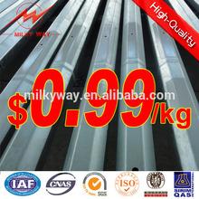 hot dip galvanized transmission line metal steel pole exporter 69KV 30ft and 35ft
