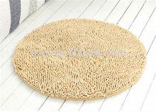 100% polyester shaggy floor carpet chenille microfiber bath rug