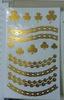 Metallic tattoo sticker foil flash sticker gold color mix order accept