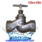 China manufacturer cast iron gost globe valve 15kch18p