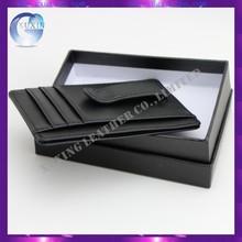 Fashion design leather money clip card holder wallet