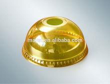 plastic juice cup lid/plastic dome lid/disposable plastic cup lid