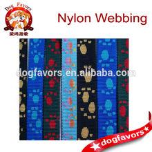 Trade Assurance Neylon Webbing,Jacquard Ribbon,Pet dog paw Jacquard Webbing