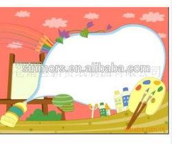 Pvc adhesive clean dry erase whiteboard/kids decorative whiteboard sticker